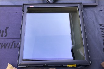 新しく仮設した天窓