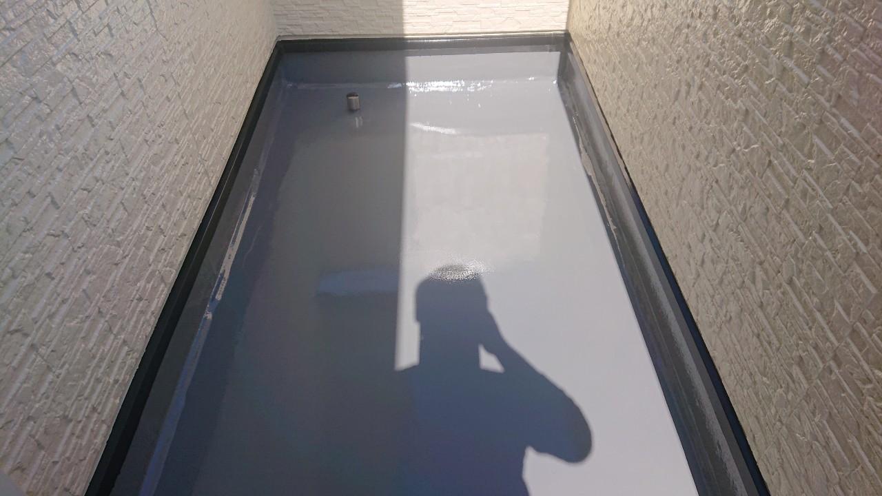 加古郡稲美町での防水工事が完了した様子