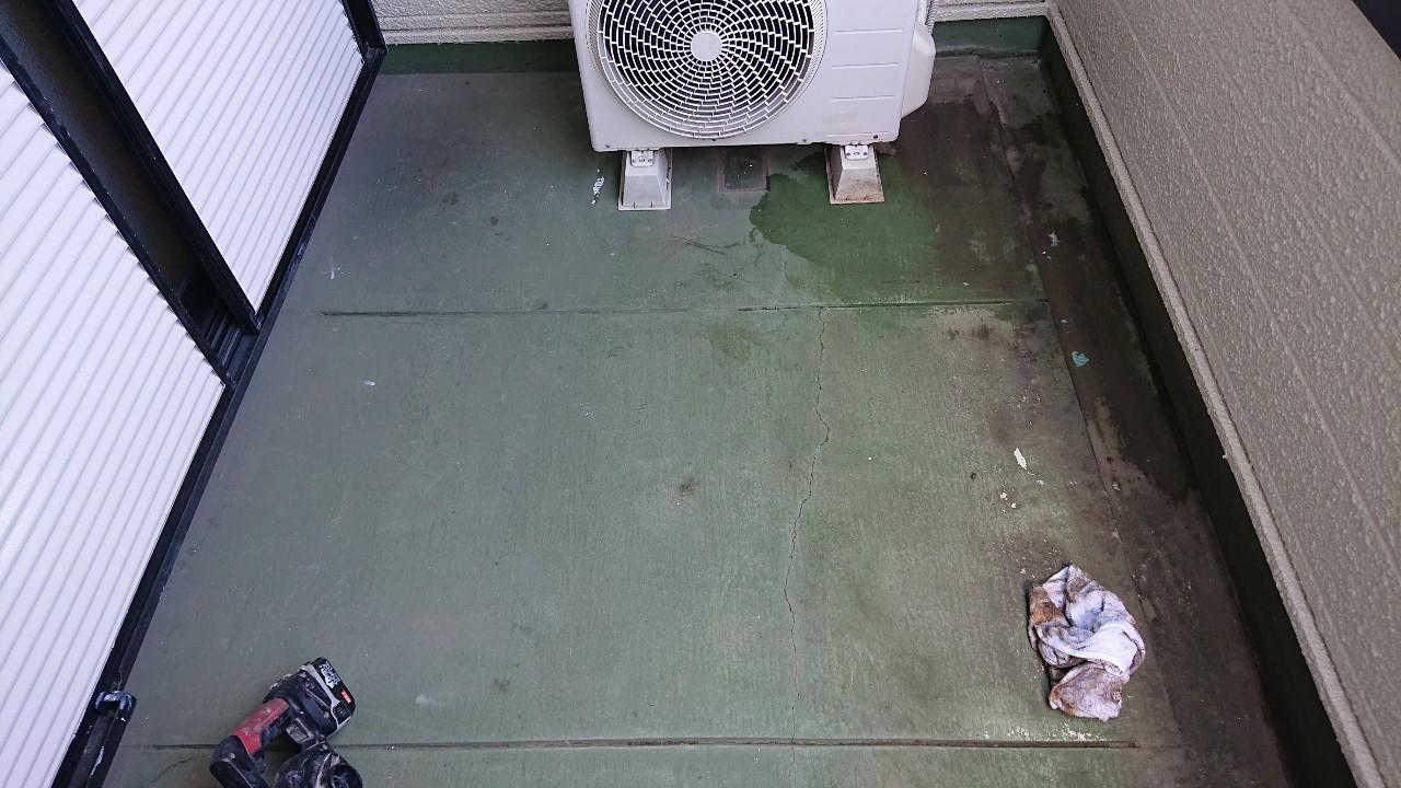 神戸市垂水区で行った、ベランダ床のメンテナンス方法をご紹介!
