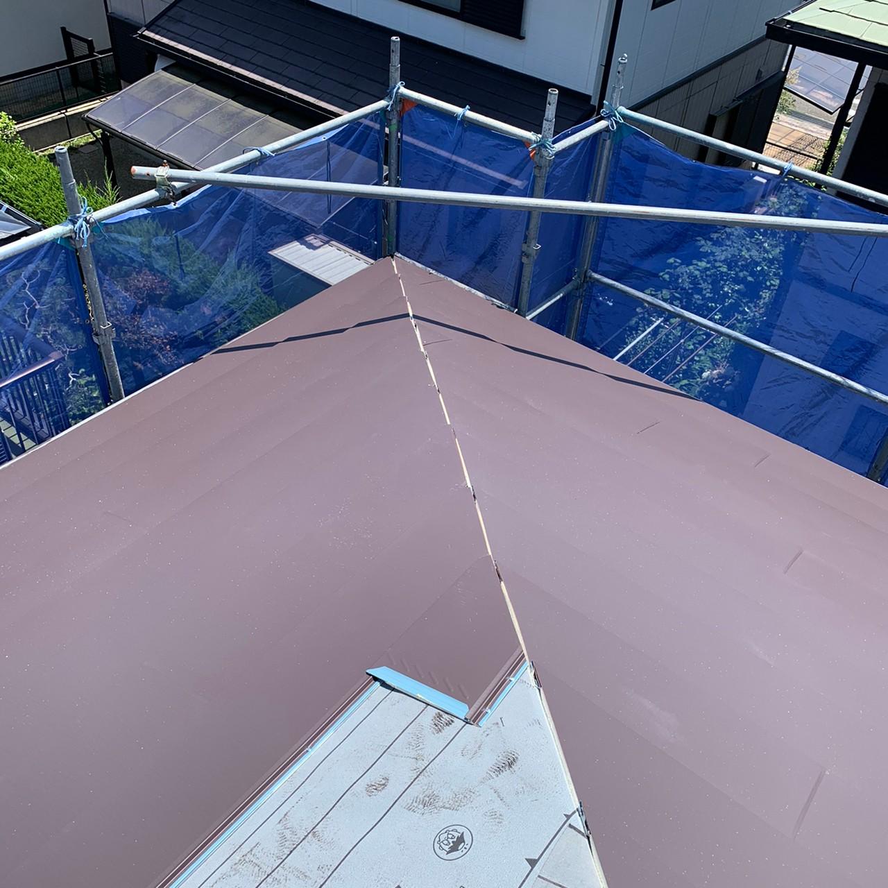 屋根の接合部分