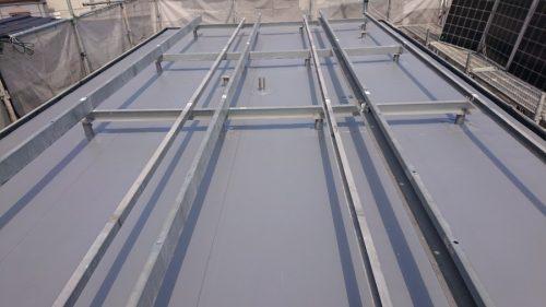 屋上防水工事完了の様子