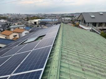 神戸市垂水区で行った屋根葺き替え工事前のスレート屋根