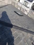 天窓が取り付けられているスレート屋根の様子