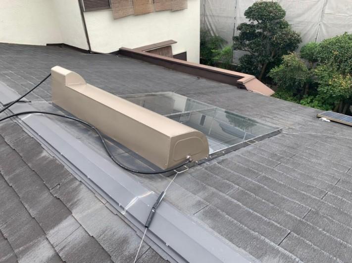 淡路市屋根カバー工法前の屋根の様子