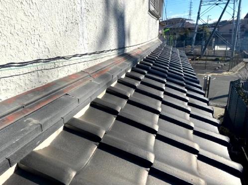 淡路市での瓦屋根修理で工事完了後の様子