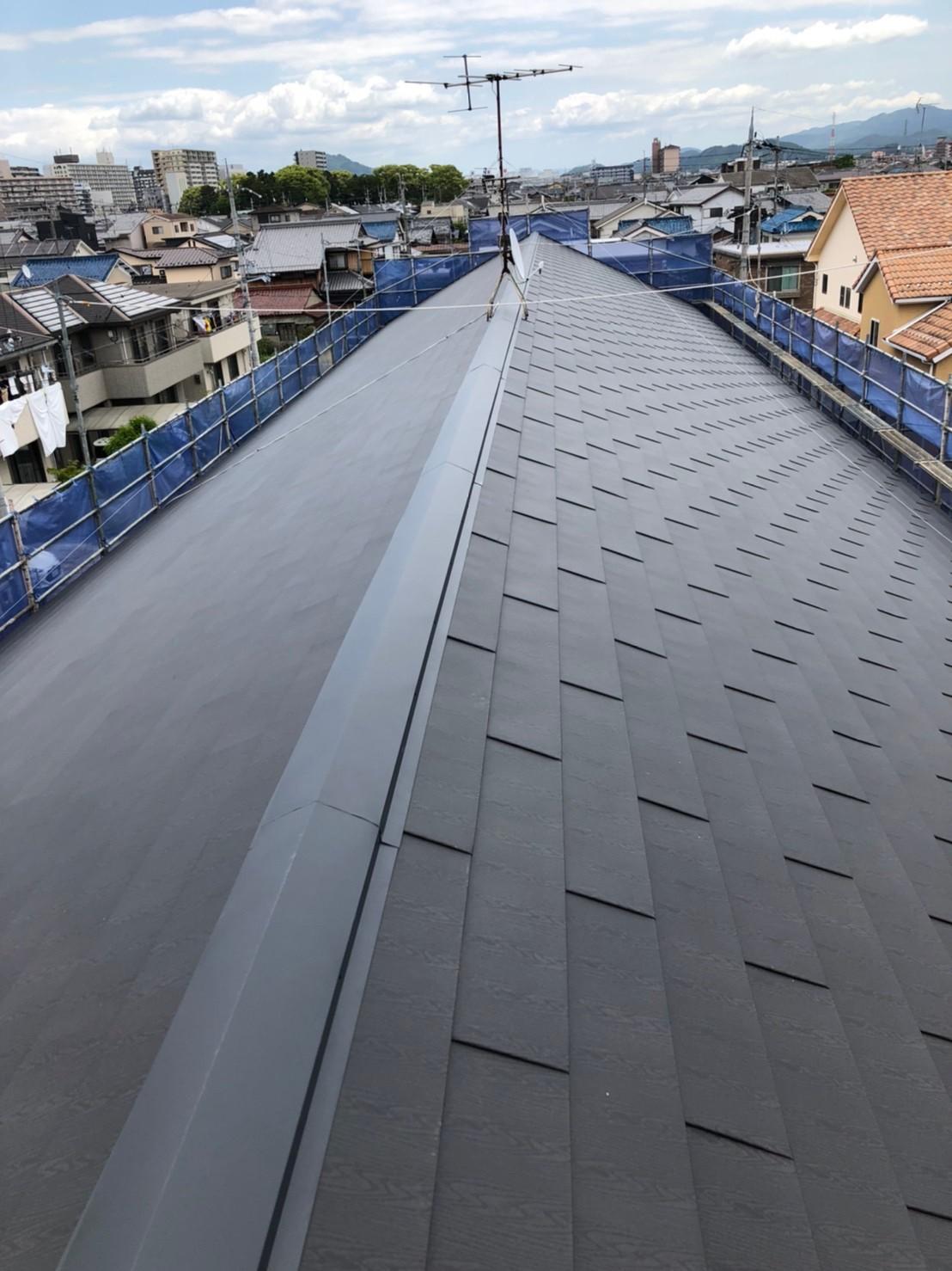 カバー工法したハイツの屋根の様子