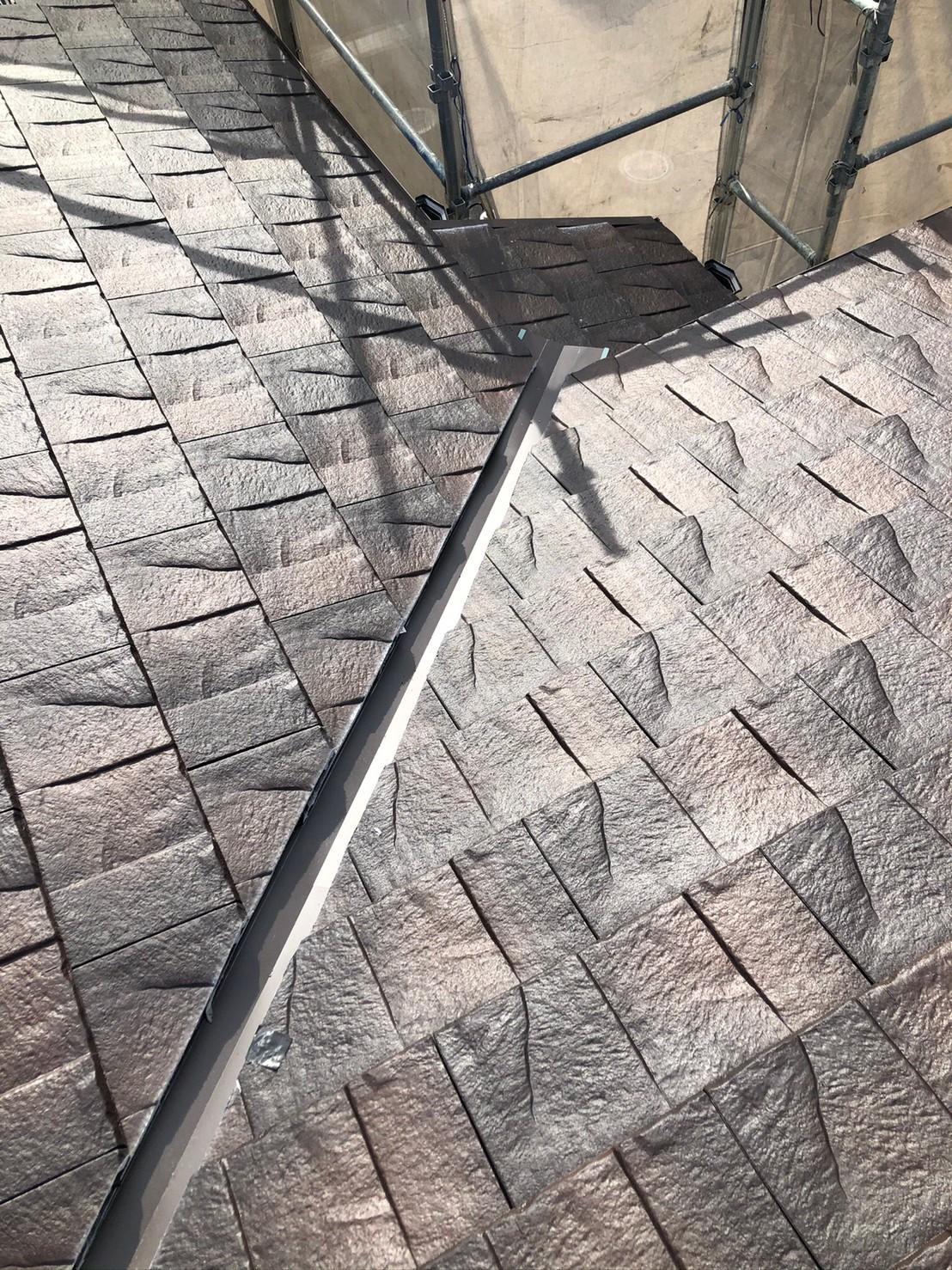 葺き終わった屋根の様子
