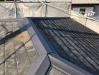 棟板金を新しくしたスレート屋根