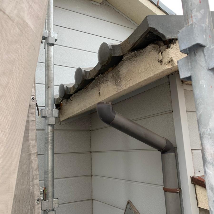 撤去後の雨樋の様子