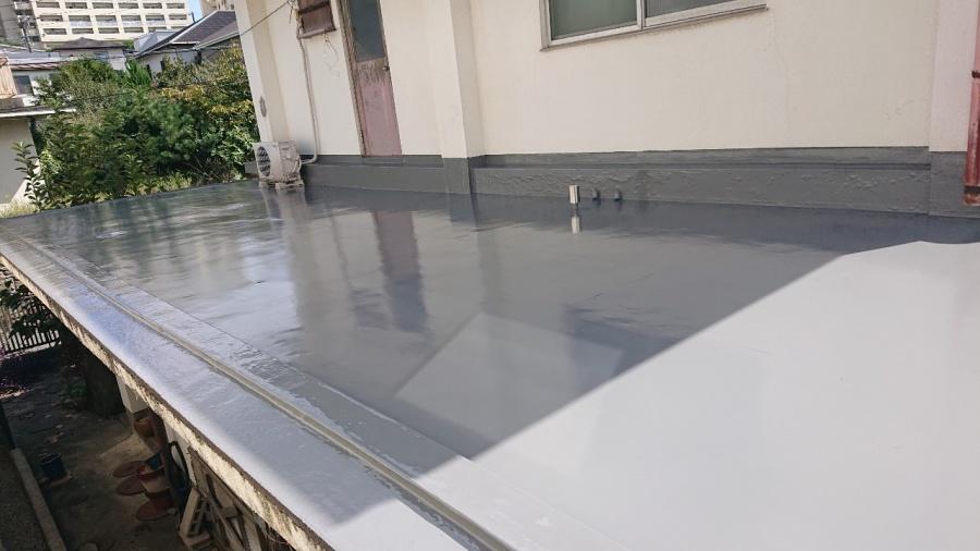神戸市垂水区で行った屋上修理の仕上がり