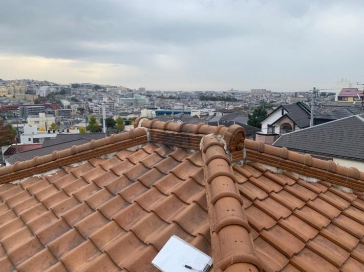 屋根残体の様子