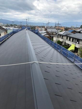 完工したハイツの屋根