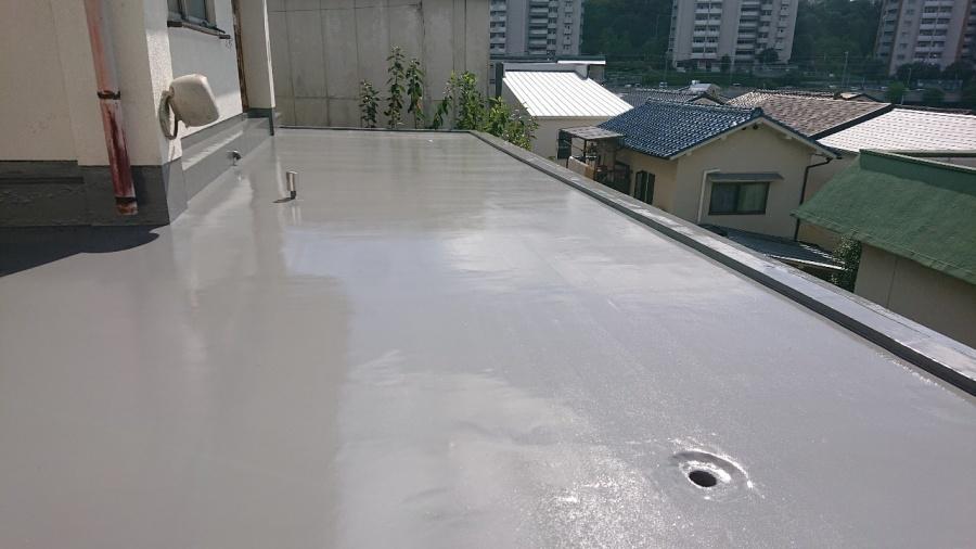 神戸市垂水区で行った屋上修理後の様子