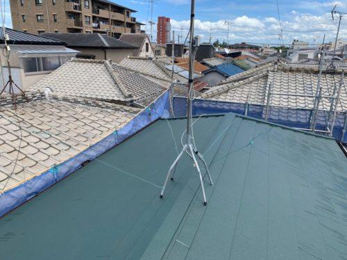 ガルテクトに葺き替えた屋根