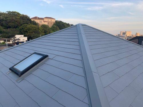 カラーベスト屋根が仕上がった様子