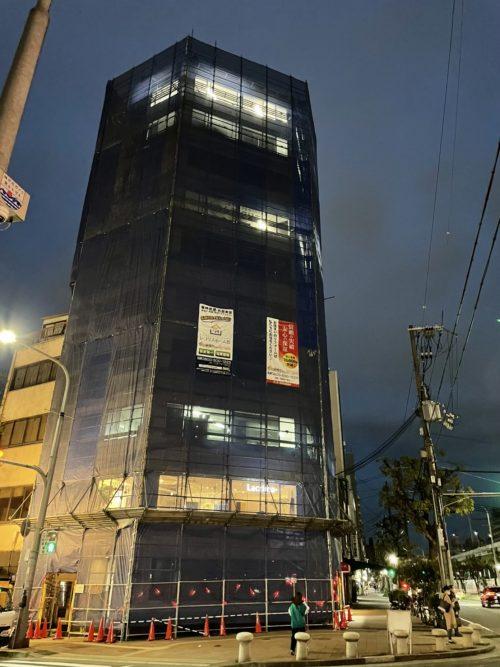 神戸市中央区で行った外壁塗装現場の様子