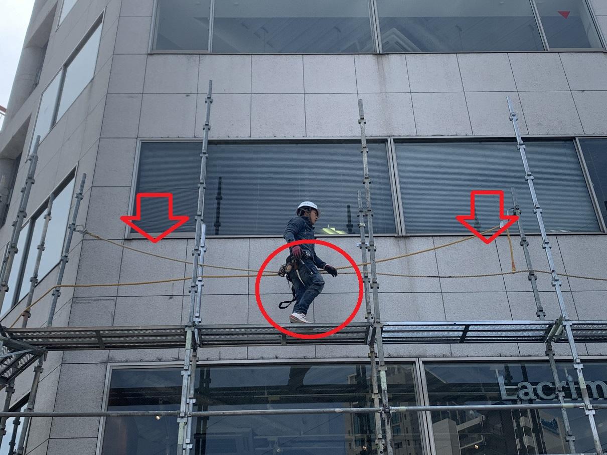 神戸市中央区での大規模修繕で職人の安全を確保する命綱