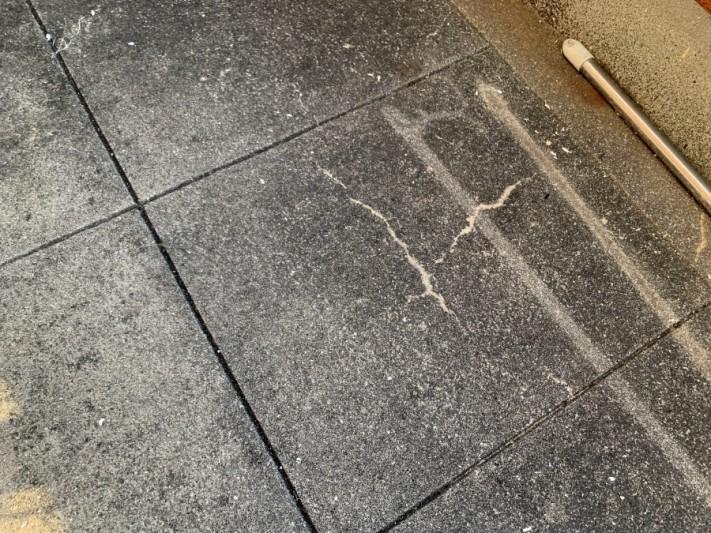 ベランダ床の様子