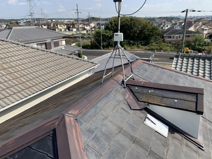 神戸市西区で行った屋根葺き替え工事前の様子