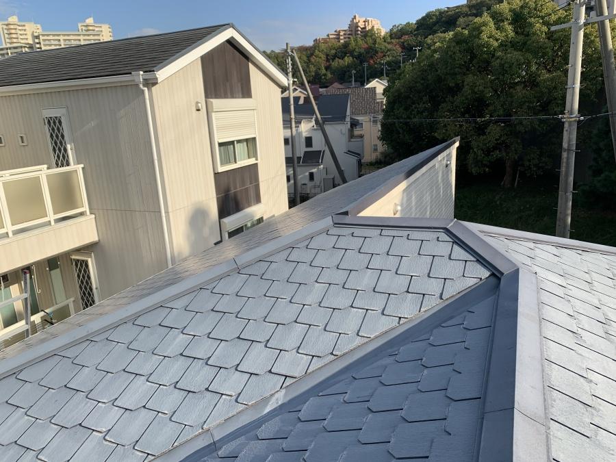 カラーベスト屋根の全景