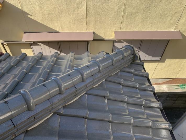 瓦屋根の様子