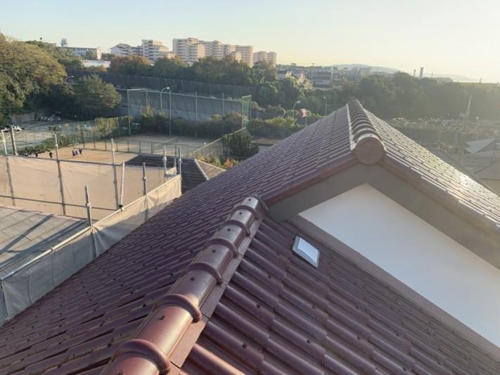 セメント瓦屋根の様子