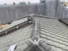 淡路市での雨漏り点検での既存の瓦屋根の様子