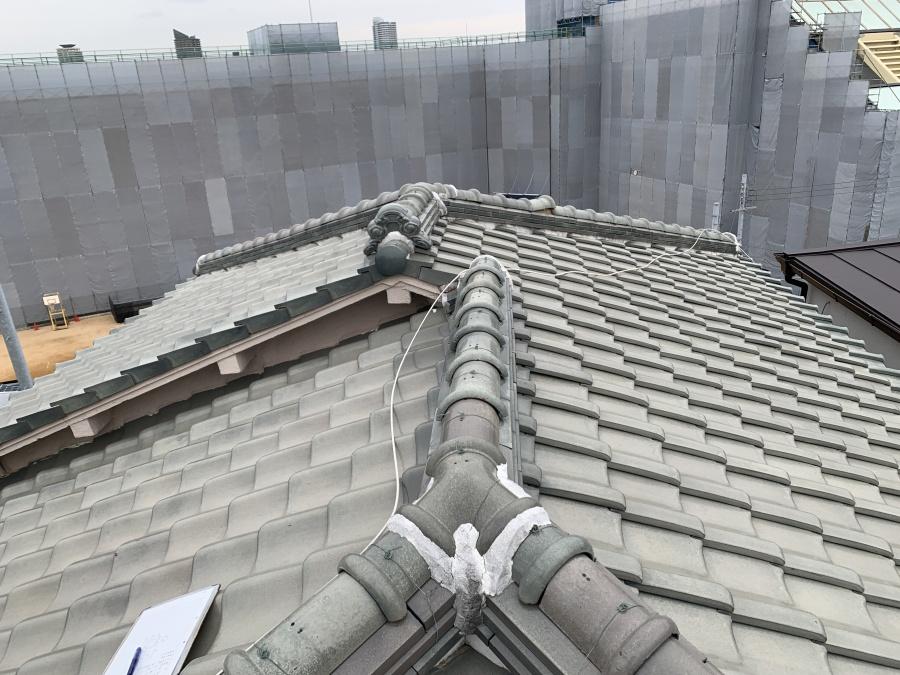三田市にて瓦屋根、修理前点検!火災保険の申請代行を行いました