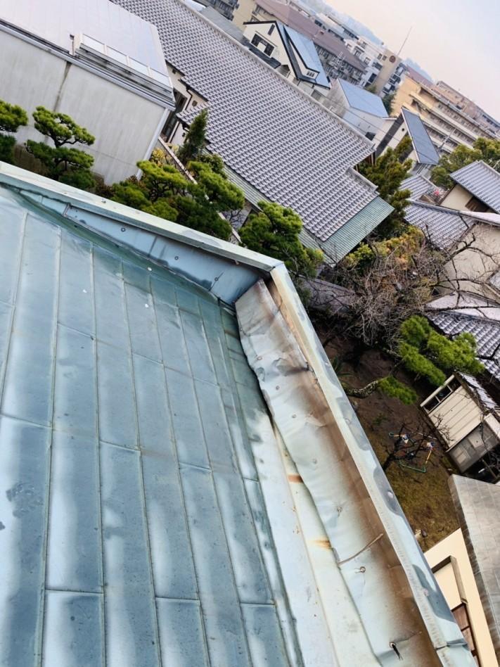既存の銅板屋根の様子