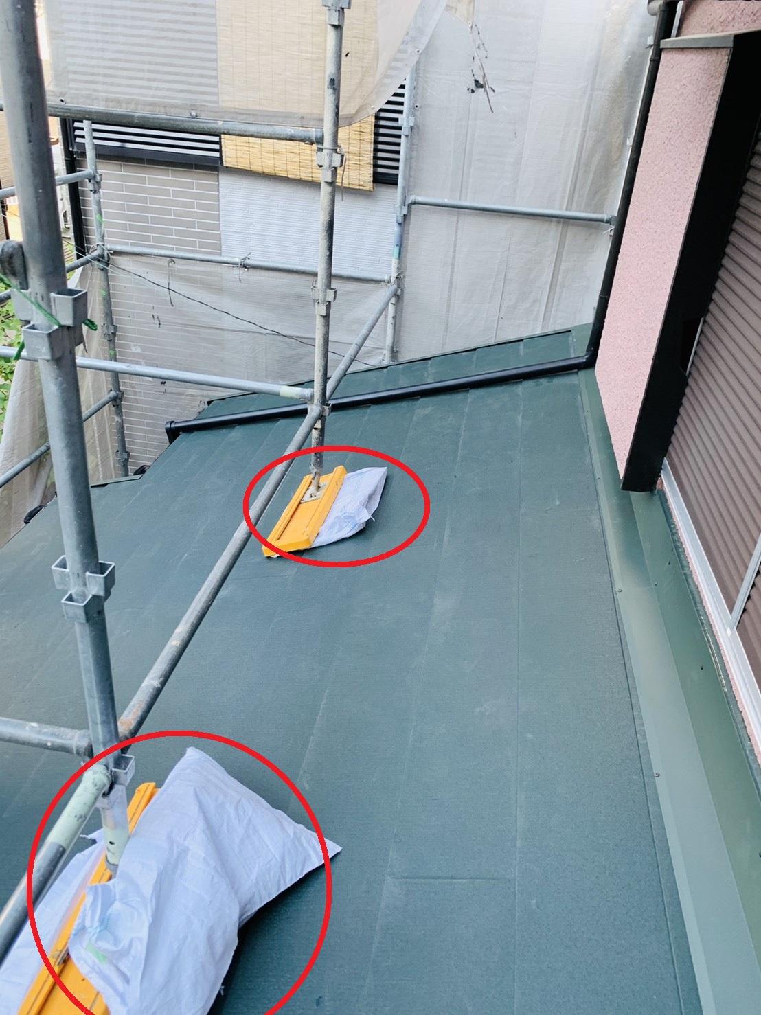 加古川市での瓦屋根葺き替え工事が完了した様子