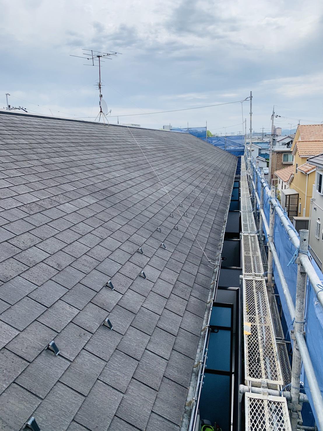 施工前のスレート屋根の様子