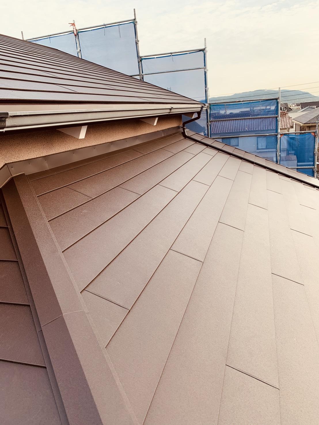 屋根の完工です