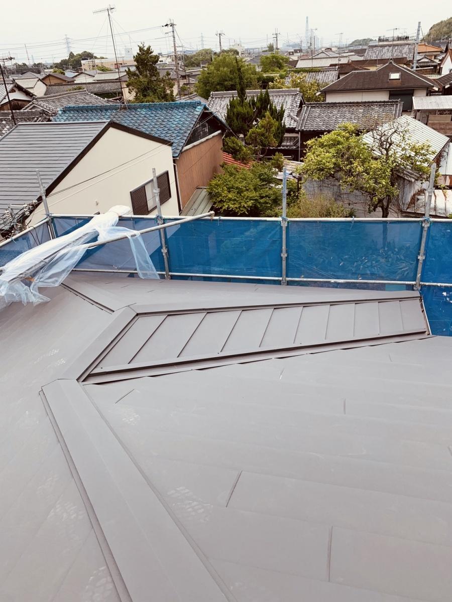 仕上がった屋根の様子