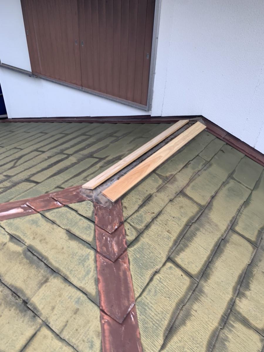 神戸市垂水区での屋根塗装まえに棟板金を撤去して棟木の取り付け