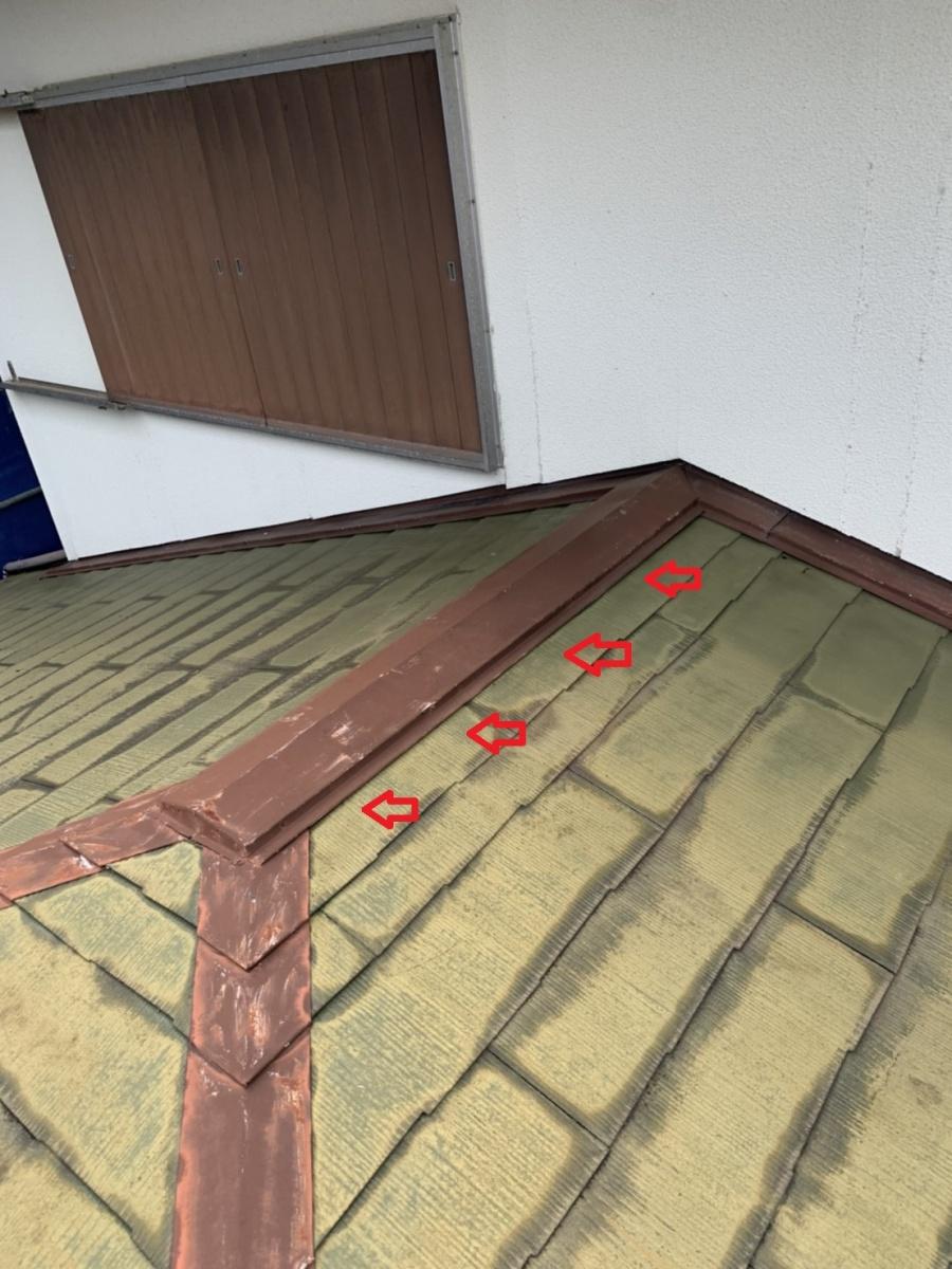 神戸市垂水区で行った屋根塗装前の棟板金