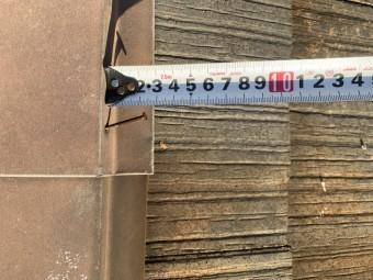 淡路市でのスレート屋根点検で釘が浮いている様子