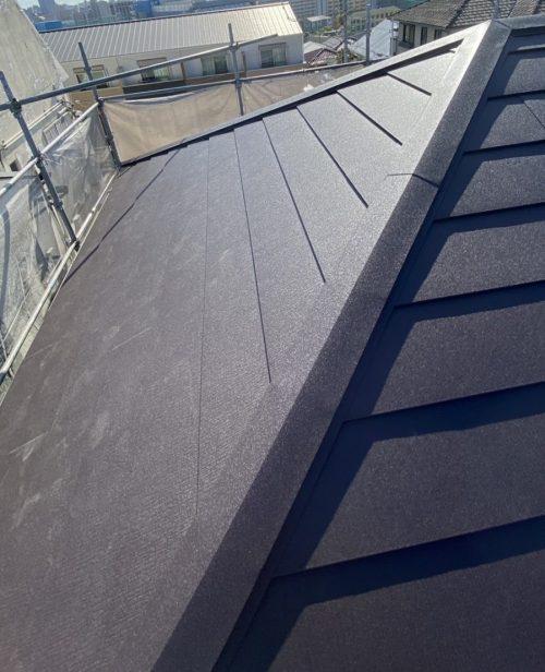 ガルテクト施工後の屋根