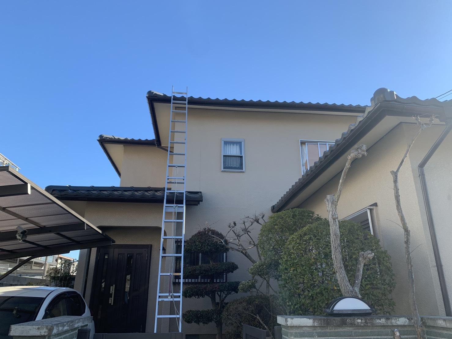 神戸市北区で行った屋根葺き替え工事のお家の様子