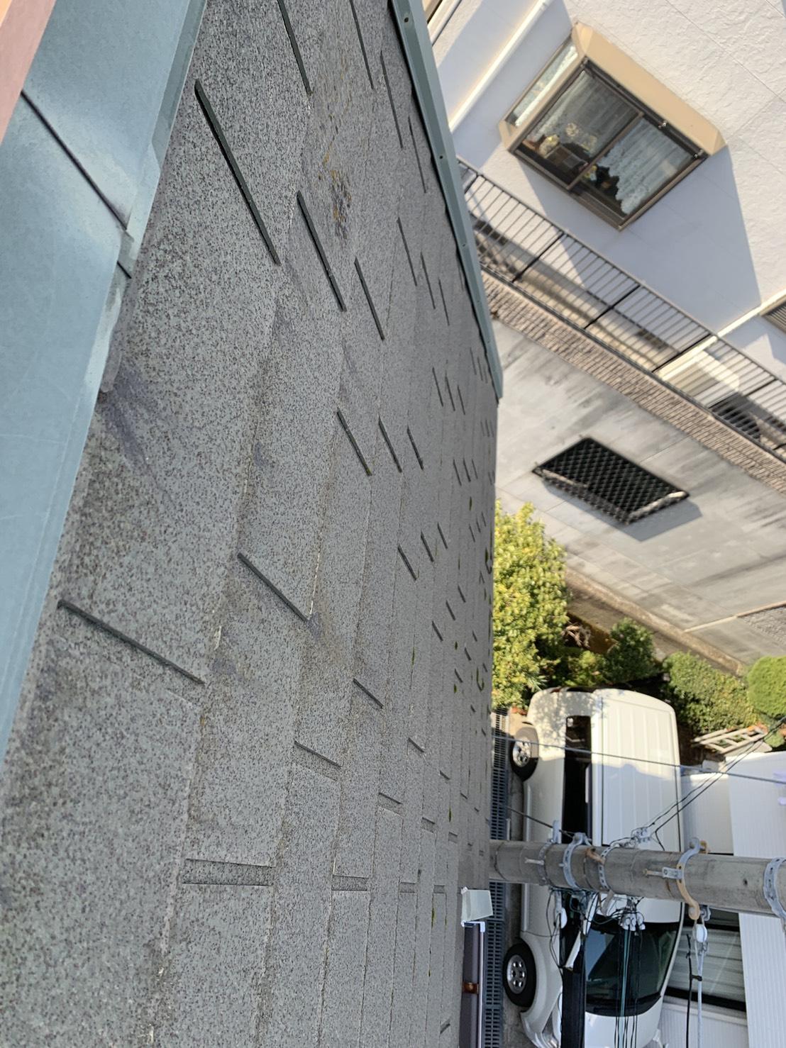 外壁塗装工事前のスレート壁