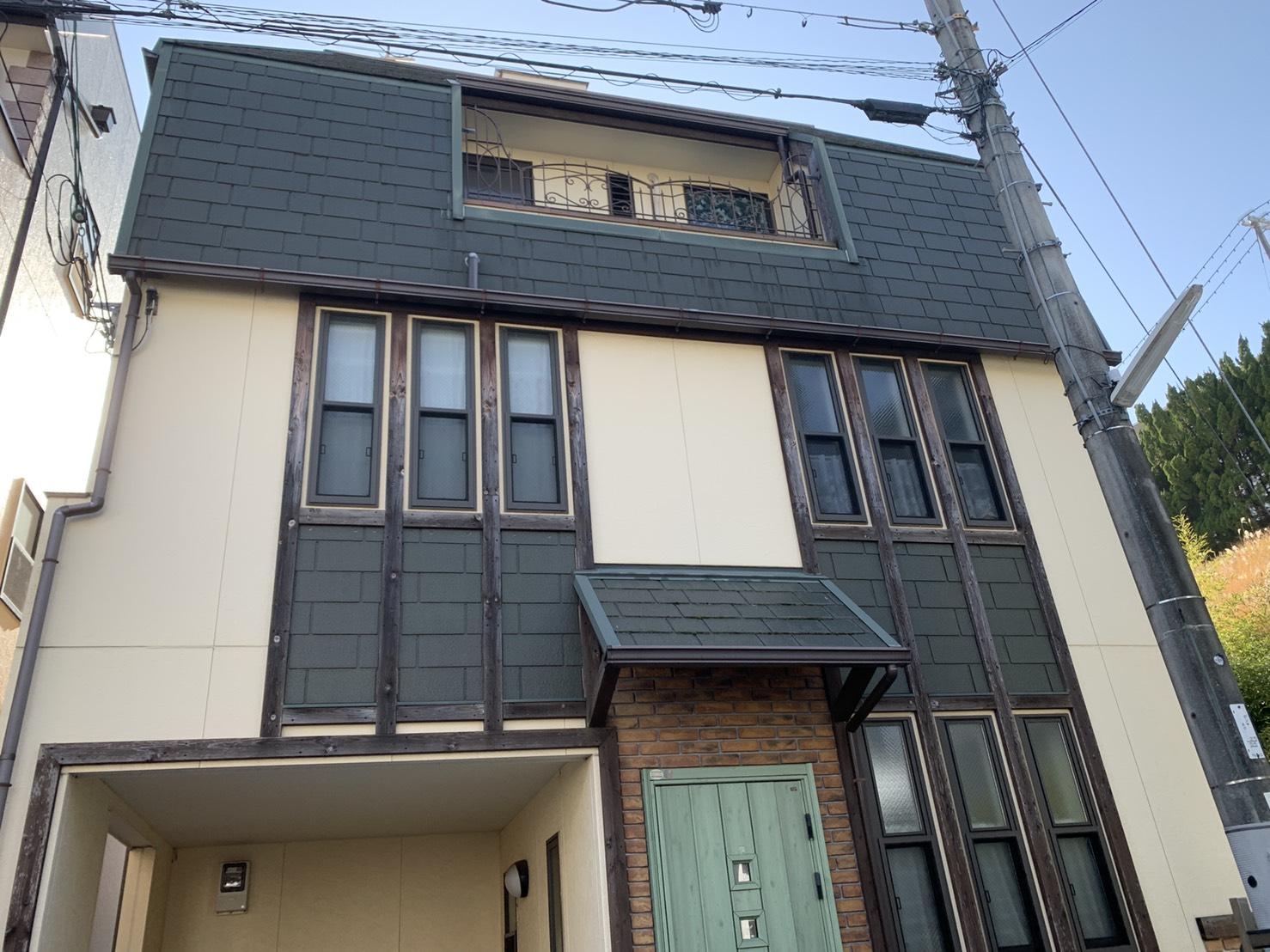神戸市垂水区で外壁塗装を行った既存のお家