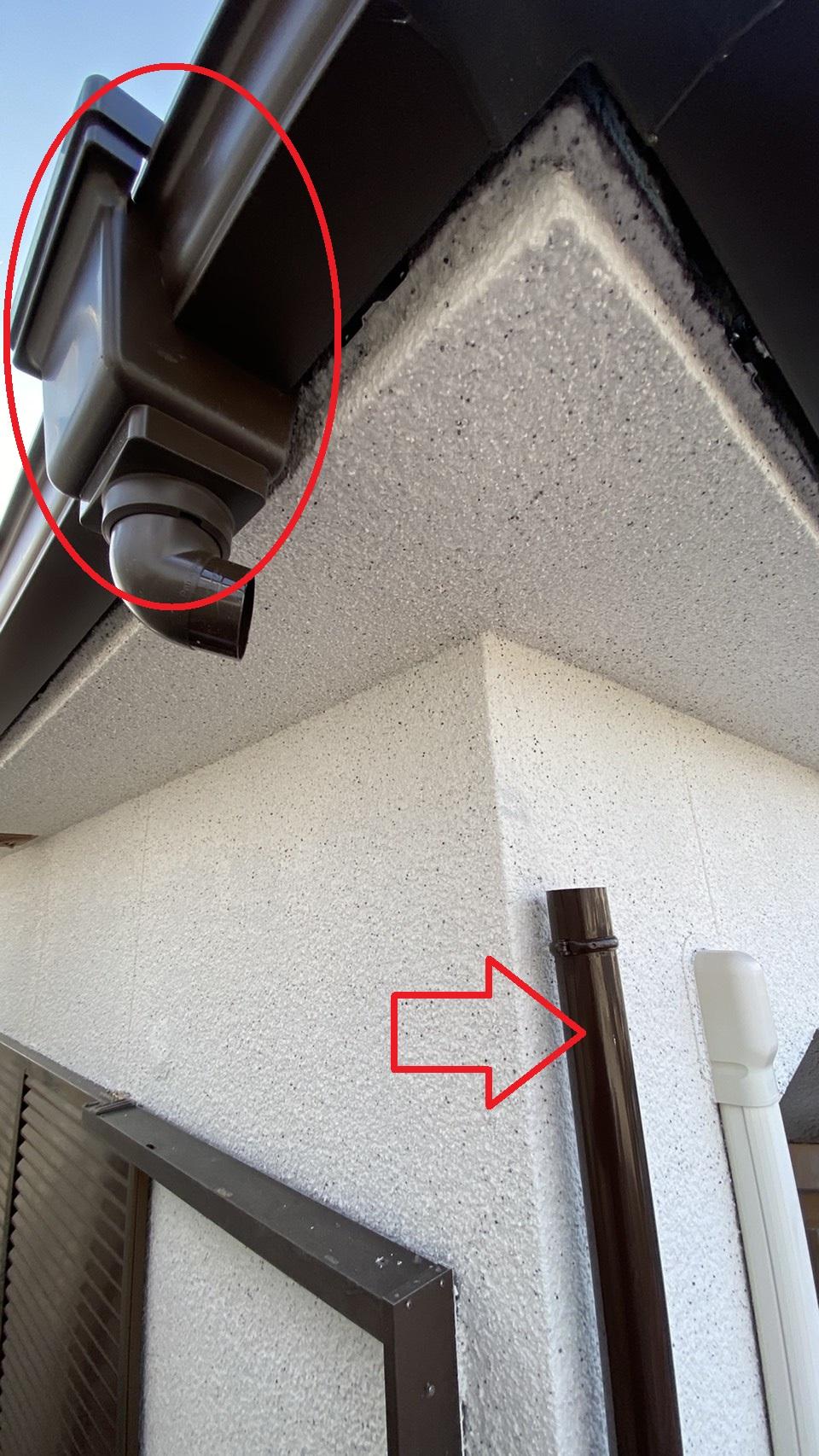 軒樋に使用する集水器