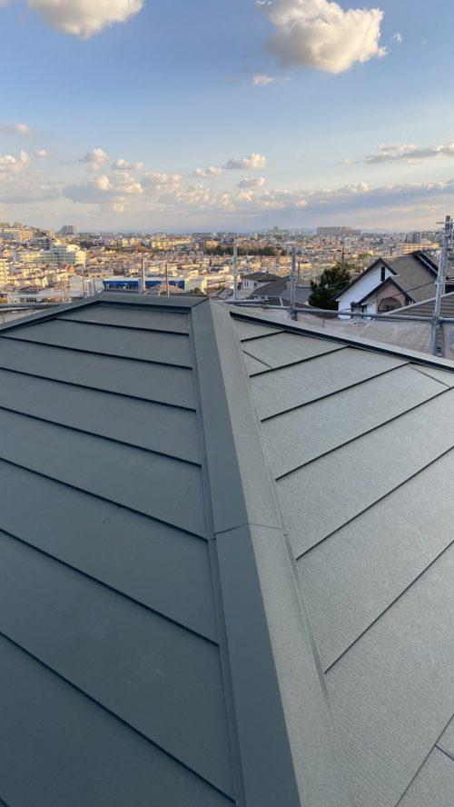 葺き替えした屋根