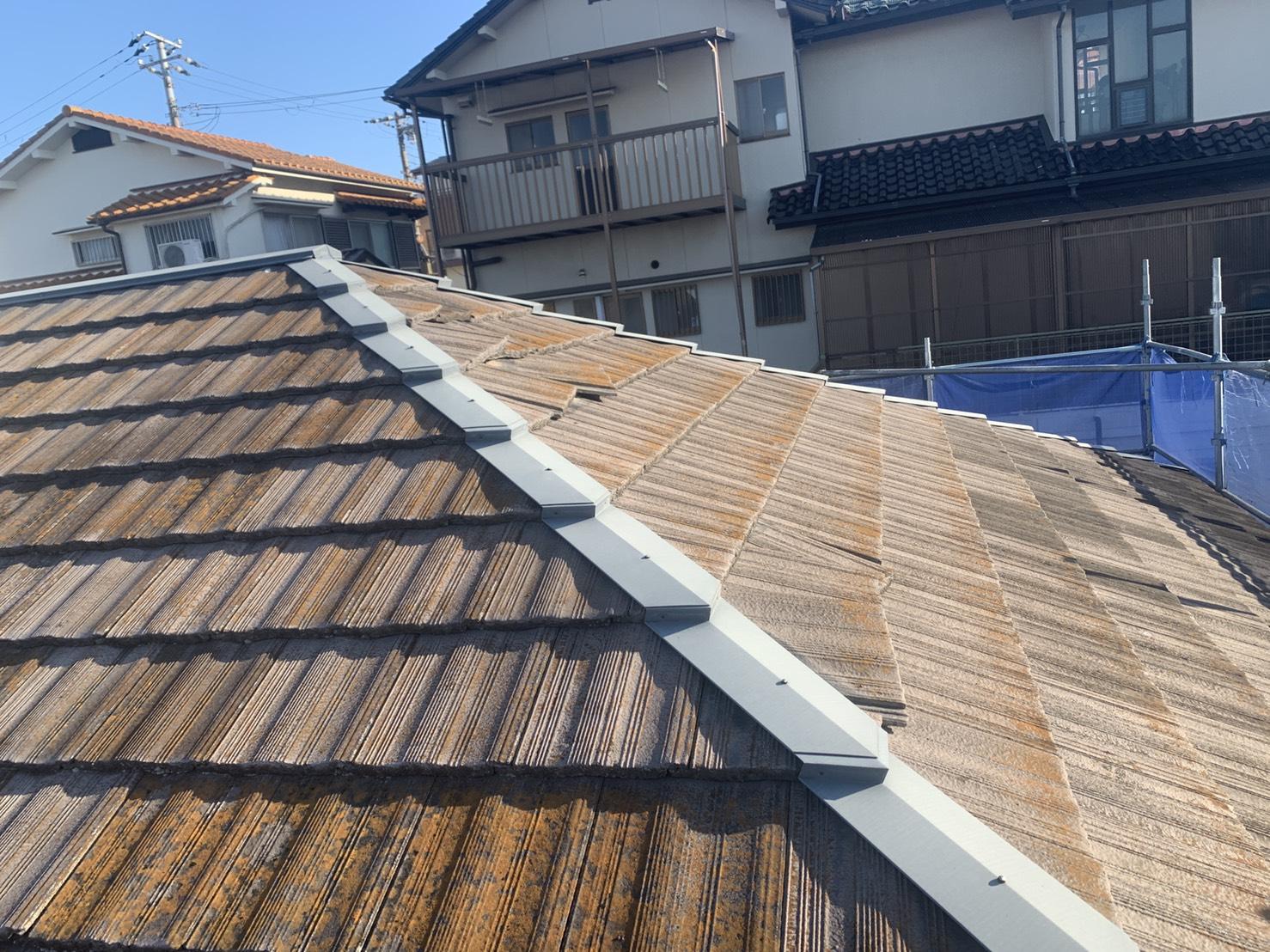 瓦屋根がズレていたお家の屋根の全景