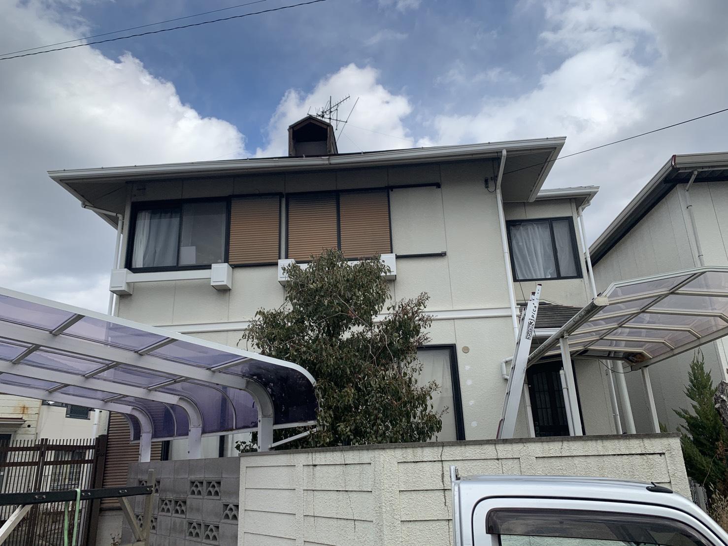 神戸市西区の鳩小屋が飛散したお家の全景