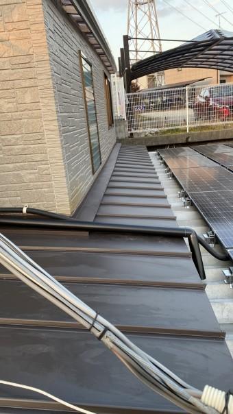 神戸市垂水区での屋根修理が完了した様子
