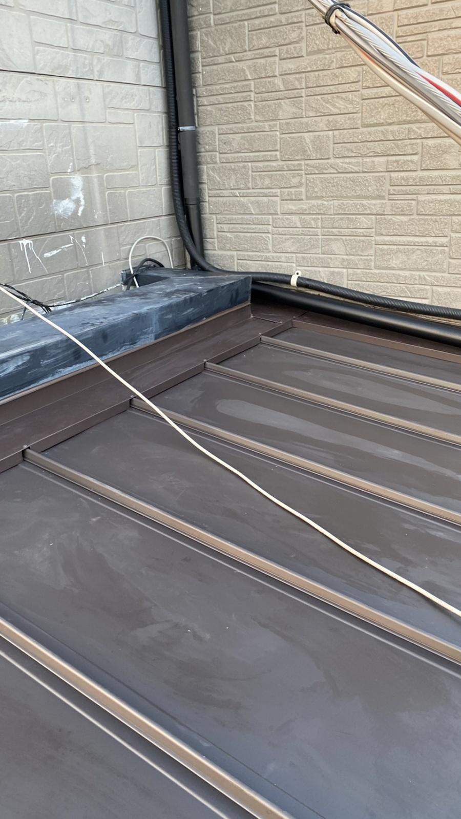 神戸市垂水区での屋根修理で雨押えの仕上がり