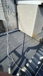 神戸市垂水区で行った屋根修理前のカラーベスト屋根の様子