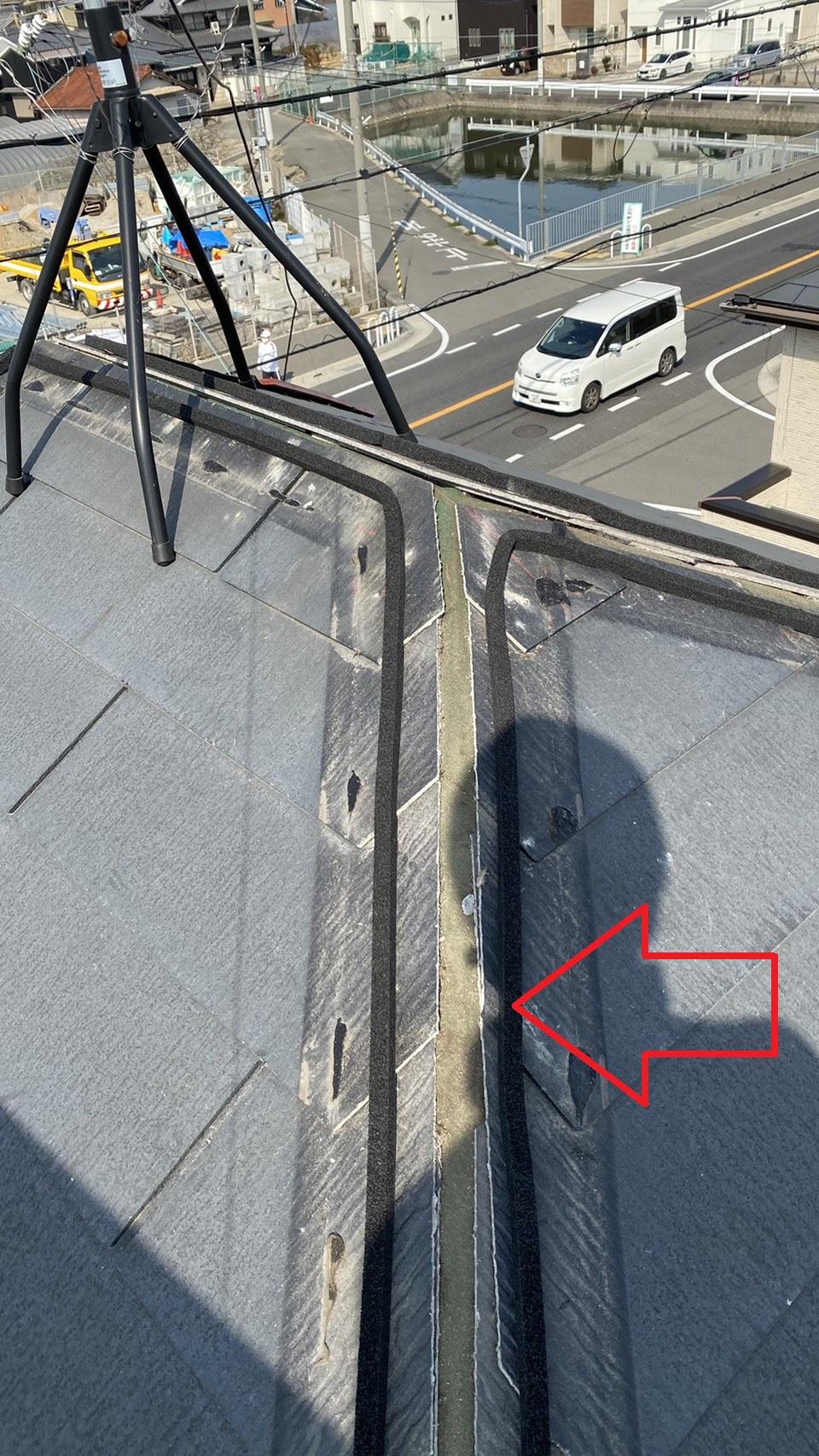神戸市西区での板金工事で防水シーラーを取り付けた様子