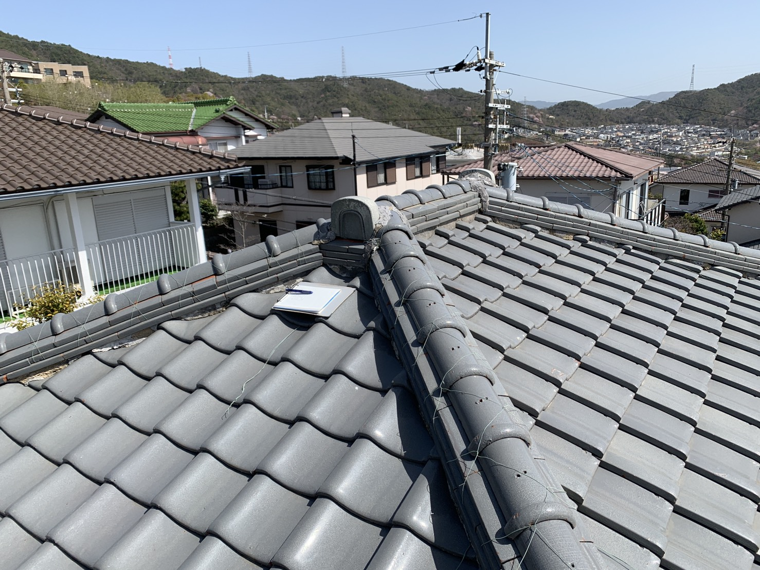 加古川市で瓦屋根無料点検を行ったお家の屋根の形状