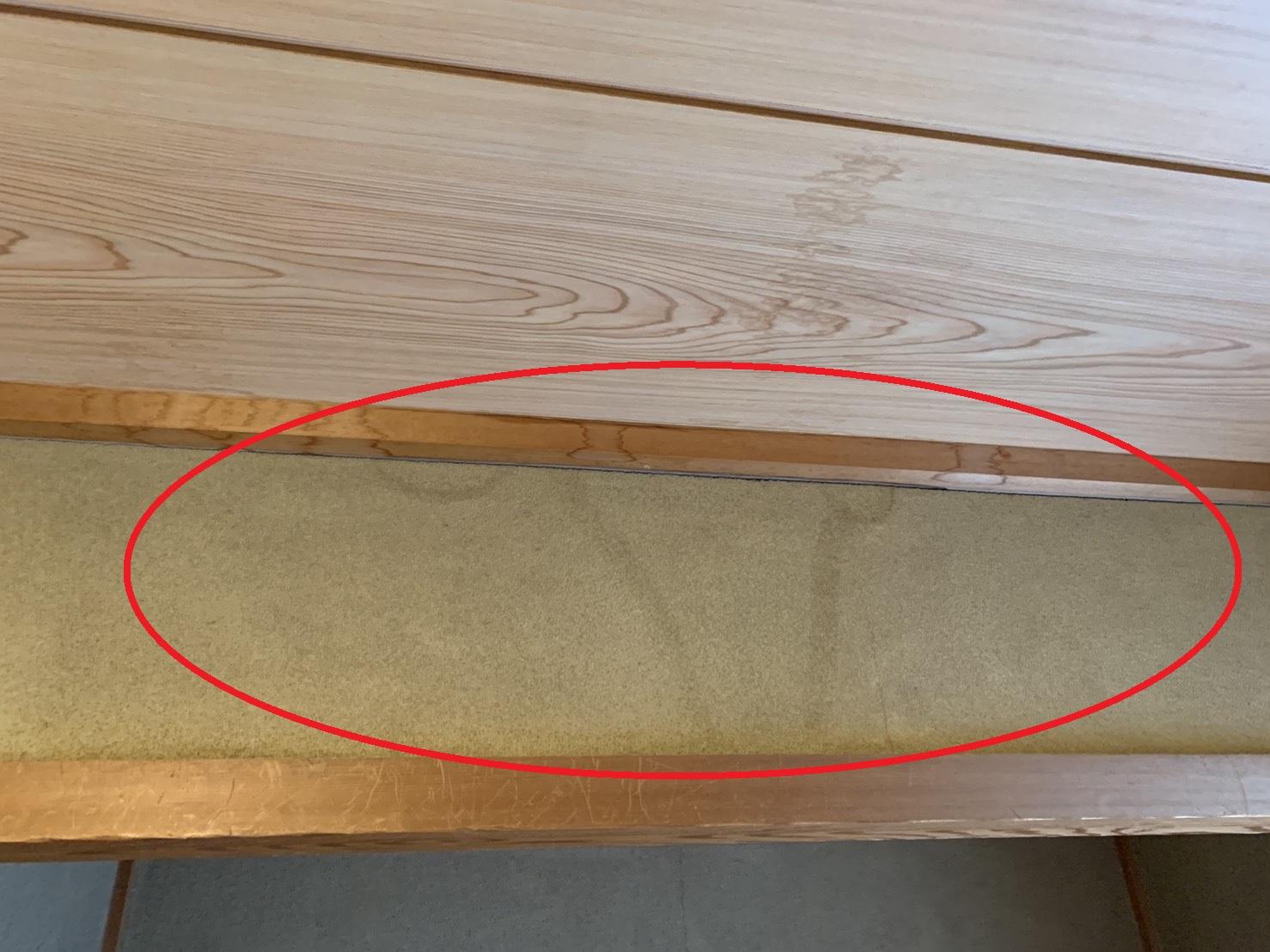 加古郡稲美町で雨漏り調査を行った二階和室の様子